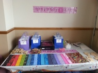 Guests can choose which paper they would like to use & we provide party bags to take everything home
